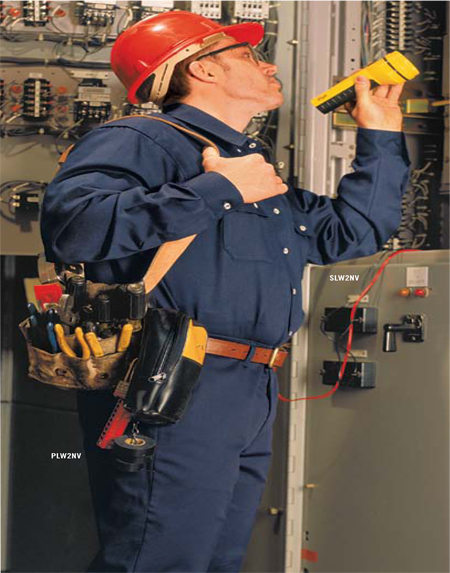 Flame resistent uniforms at work