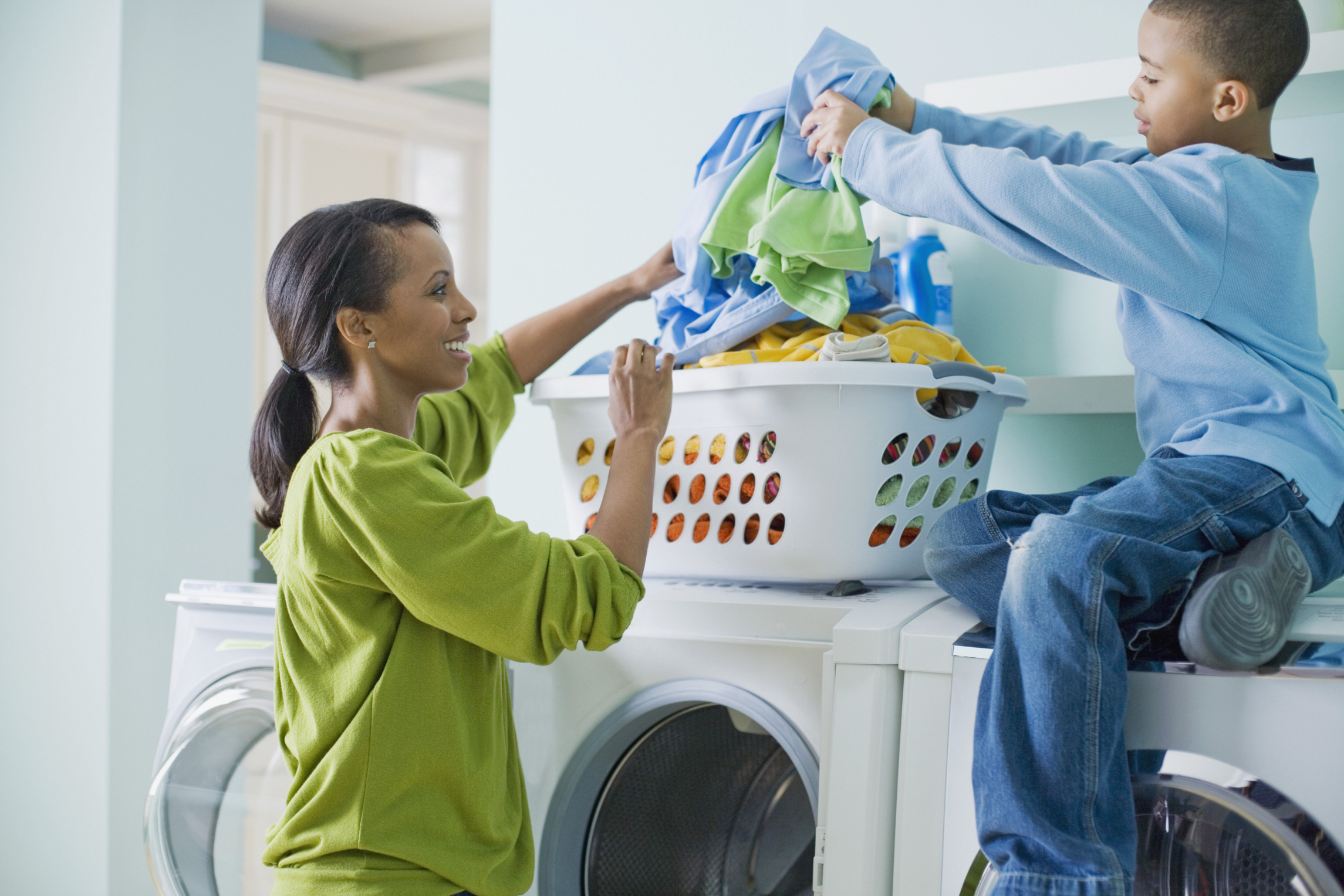 Image result for family doing the laundry