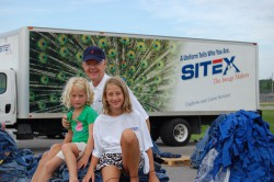 Jon Sights with his Granddaughters