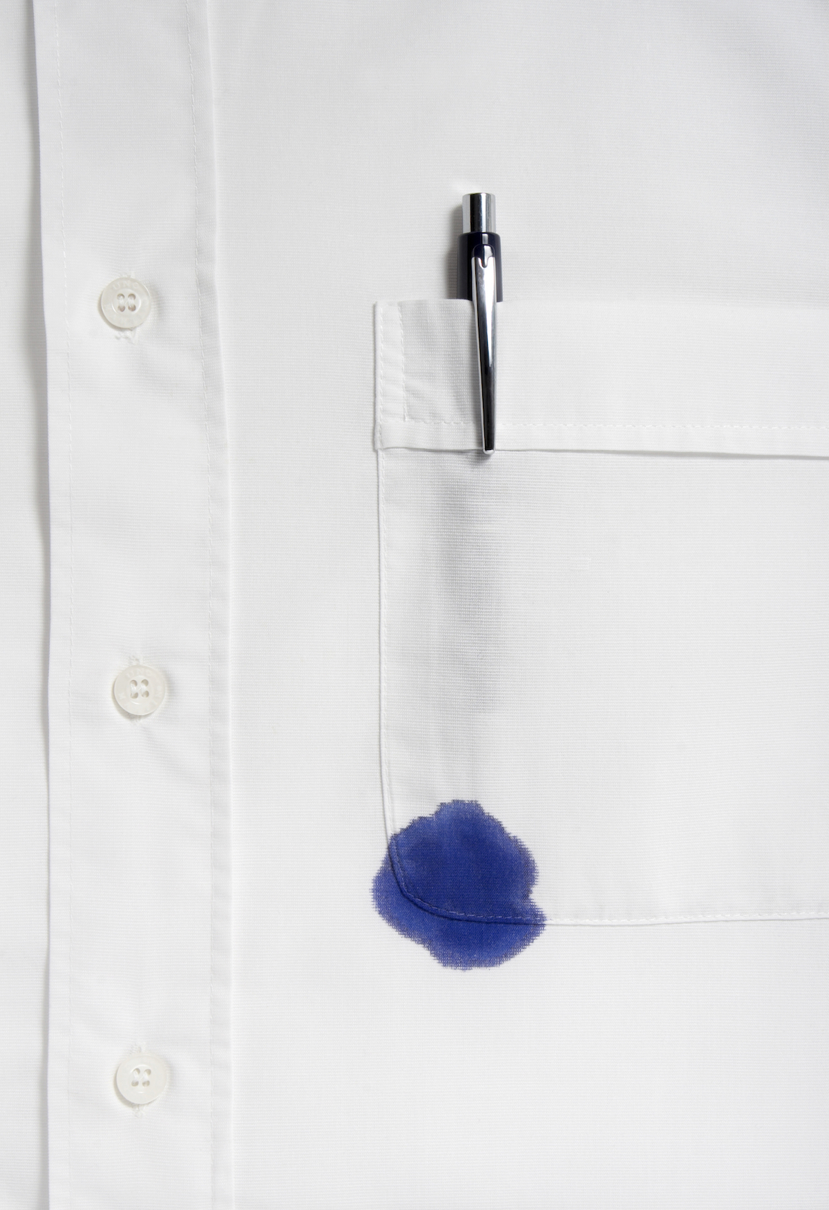 ruined shirt and and leaking pen