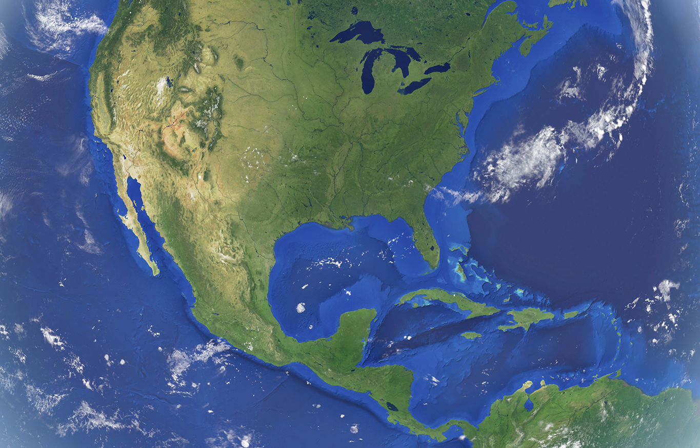 satellite photo of north america